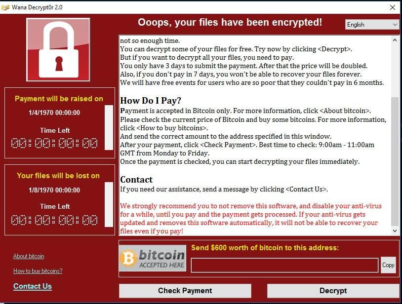 El peligroso malware ' Wanna Cry ' azota más de 70 países